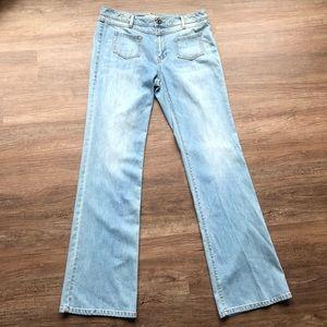 CAbi Jeans - CAbi Malibu Flare jeans light wash size 12 LONG